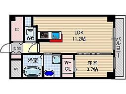 アクトタレイア茨木駅前[3階]の間取り
