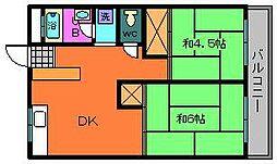 瀬田サンプラザマンション[306号室]の間取り
