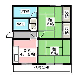 松ヶ丘住宅[2階]の間取り