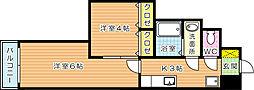 堺町センタービル[6階]の間取り