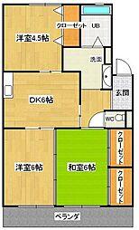 愛知県安城市緑町1丁目の賃貸アパートの間取り