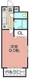 デジュール箱崎[401号室]の間取り