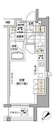 パークハビオ渋谷[6階]の間取り
