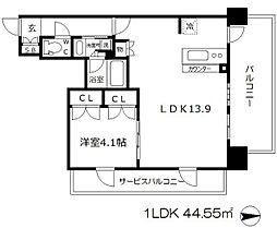 ザ・大阪レジデンス備後町[8階]の間取り