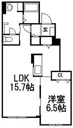 シャローム[1階]の間取り