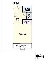 メイプル高島[2階]の間取り