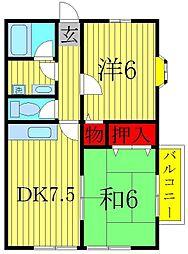 富士ハウスB棟[2階]の間取り