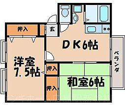 広島県広島市東区中山上2丁目の賃貸アパートの間取り