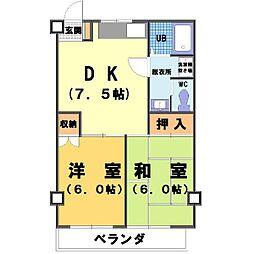 パインヒル野田[3階]の間取り