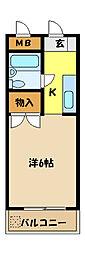 埼玉県さいたま市桜区大字下大久保の賃貸マンションの間取り