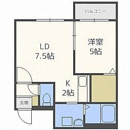 Luferi Nangou(ルフェリ南郷)[2階]の間取り