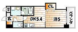THE SQUARE Platinam Residence[6階]の間取り
