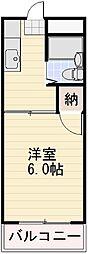 長野県長野市若里4丁目の賃貸マンションの間取り