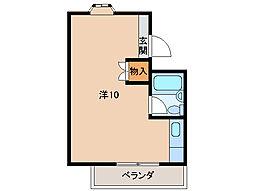 マンションミカド[1階]の間取り
