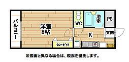 金鶏郵便局ビル[4階]の間取り