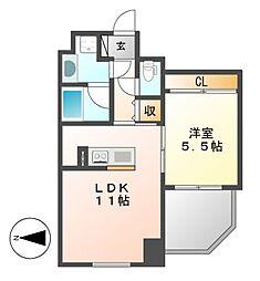 Comfort大曽根[8階]の間取り