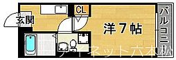 福岡県福岡市城南区田島4丁目の賃貸マンションの間取り