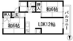 坂西レジデンス2[1階]の間取り
