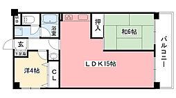 尾崎マンション[101号室]の間取り