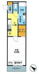 あさひコーポ[3階]の間取り