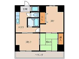 千代グランドマンションB[1階]の間取り