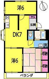 シャロム21[101号室]の間取り