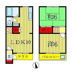 [テラスハウス] 千葉県松戸市常盤平西窪町 の賃貸【千葉県 / 松戸市】の間取り