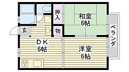レイク沢潟[2階]の間取り