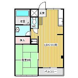 レジオンアルファ[2階]の間取り