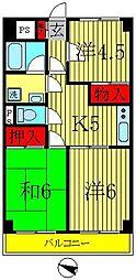 レジデンスプルーム[3階]の間取り