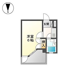 グレースホリベ5[3階]の間取り