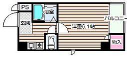 大阪府大阪市北区天神橋1の賃貸マンションの間取り