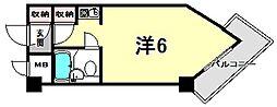 キューブAMX[7階]の間取り