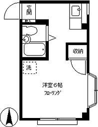 パークサイドりゅう[305号室]の間取り