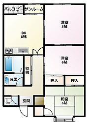 サンシャインEBARA A棟[205号室]の間取り