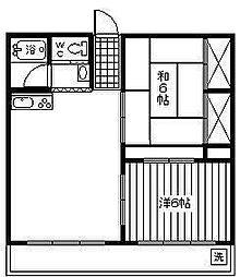 旭ヶ丘ハイツ[301号室]の間取り