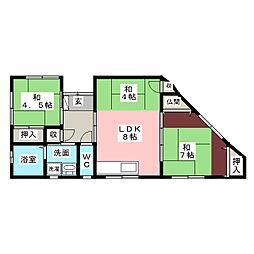 [一戸建] 愛知県豊橋市東脇1丁目 の賃貸【/】の間取り