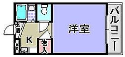 ユウパレス穴田[4-H号室]の間取り