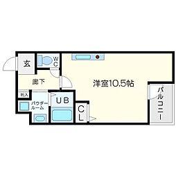 アクアプレイス梅田[6階]の間取り