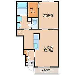 ヌーベルコートA[1階]の間取り