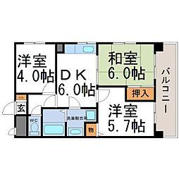 兵庫県尼崎市杭瀬南新町4丁目の賃貸マンションの間取り