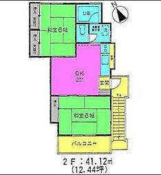 神奈川県茅ヶ崎市美住町の賃貸アパートの間取り