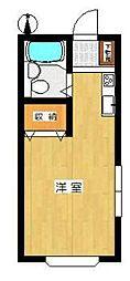 神奈川県川崎市多摩区三田2丁目の賃貸アパートの間取り