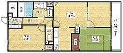リッツ新大阪南[2階]の間取り