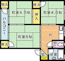 MOON永犬丸(ムーン永犬丸) A棟[4階]の間取り