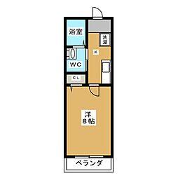MESA VERDE 紫竹 1階1Kの間取り