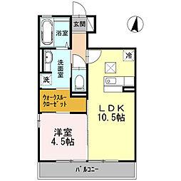 戸塚区下倉田町 第3グレイスヨシハラ105号室[1階]の間取り