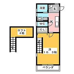 ホワイトキャッスルM&II番館[1階]の間取り