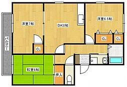 シャルム高松II[3階]の間取り