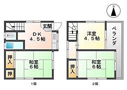 [一戸建] 兵庫県尼崎市水堂町3丁目 の賃貸【/】の間取り